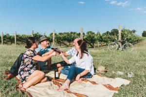 Rutherglen vine side picnic